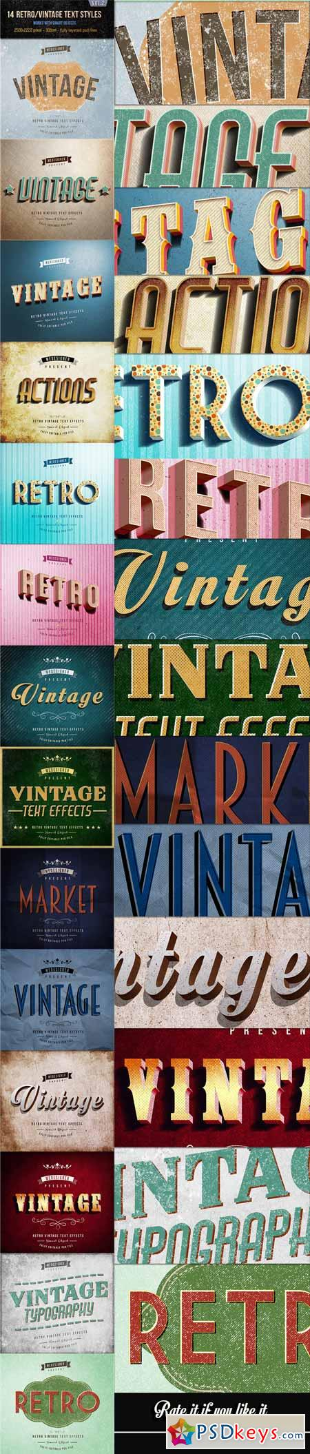 14 Retro Vintage Text Effects V.2 12821635