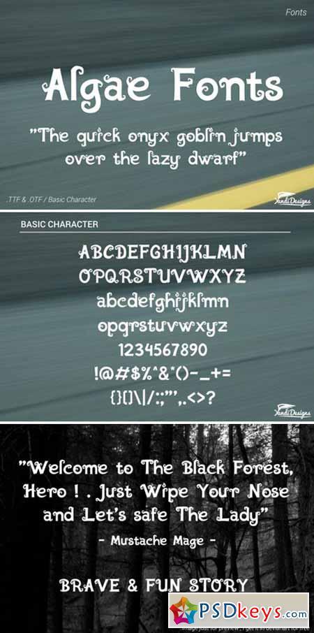 Algae Fonts - Fantasy 373339