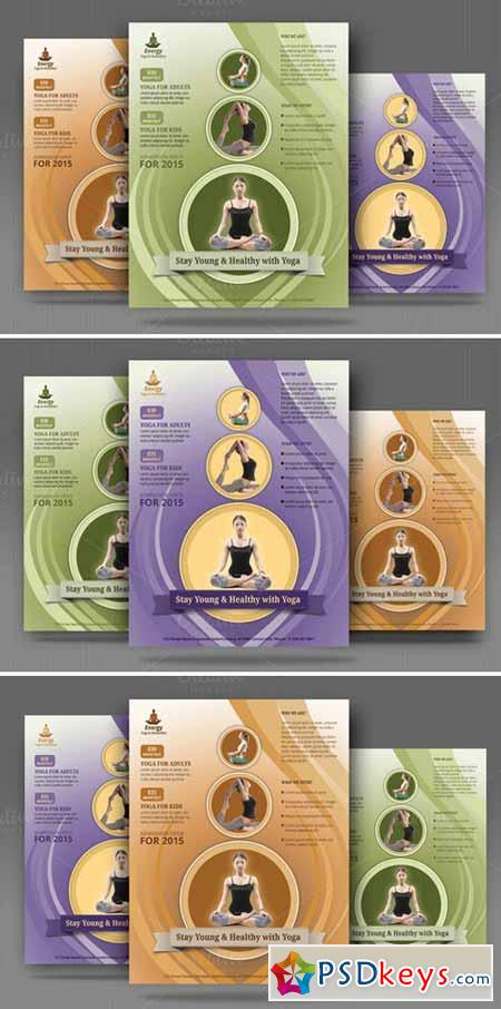 Yoga, Meditation Simple Flyer 373590