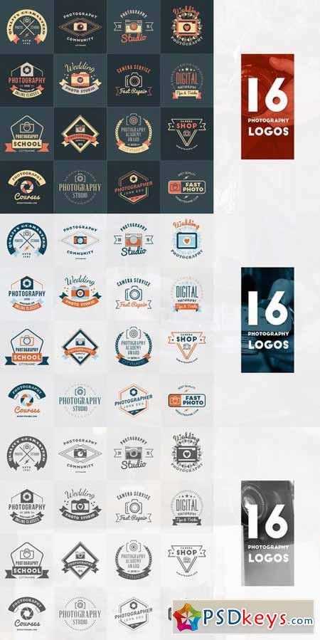 Set of 16 Photography Logos 370706