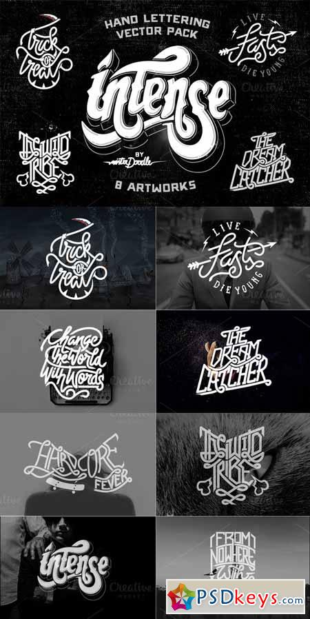 Hand Lettering Vector Pack 15484