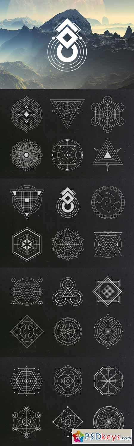 24 Sacred Geometry Vectors 316836