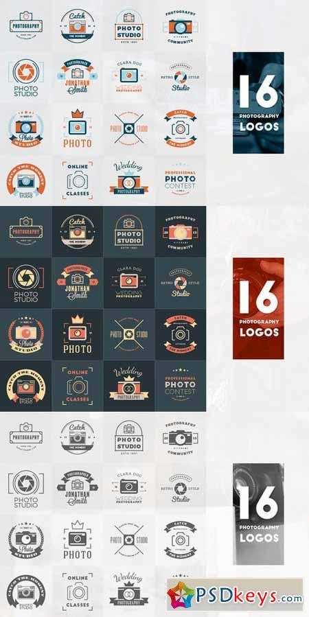 Set of 16 Photography Logos 369466