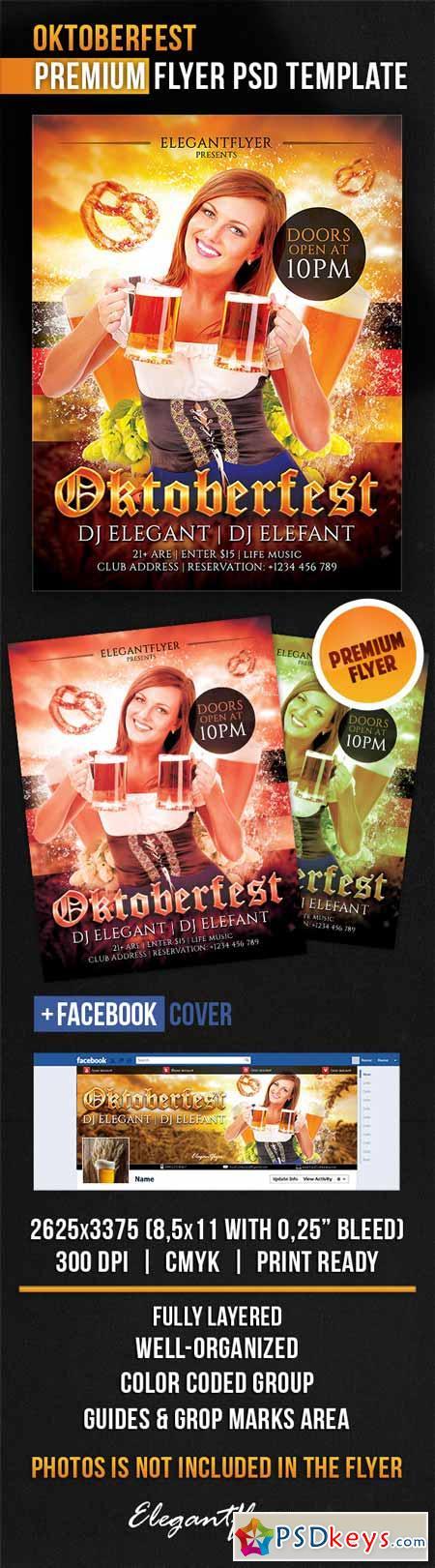 Oktoberfest – Flyer PSD Template + Facebook Cover