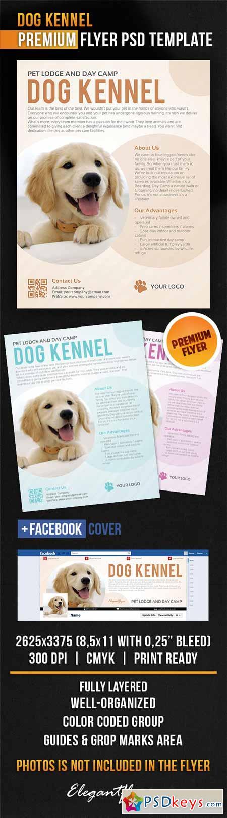dog kennel  u2013 flyer psd template   facebook cover  u00bb free