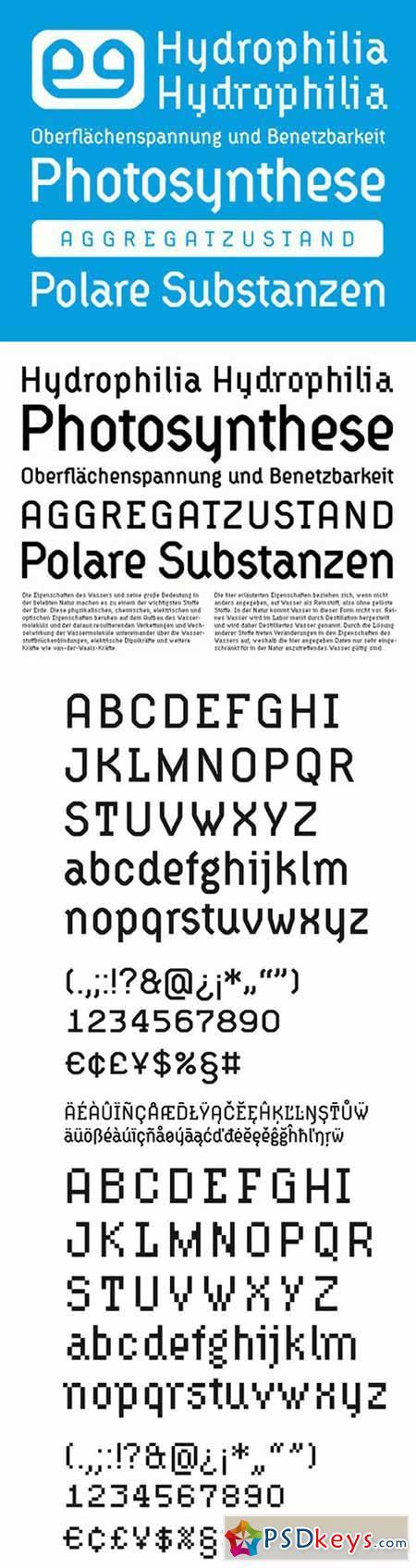 Typeface Hydrophilia