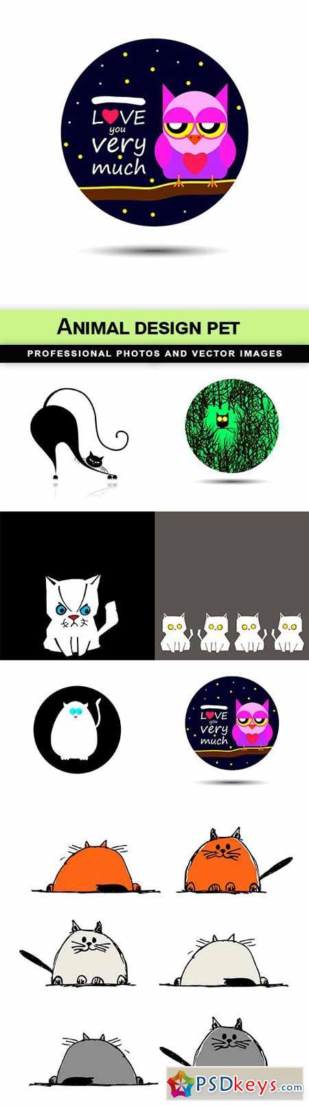 Animal design pet - 7 EPS