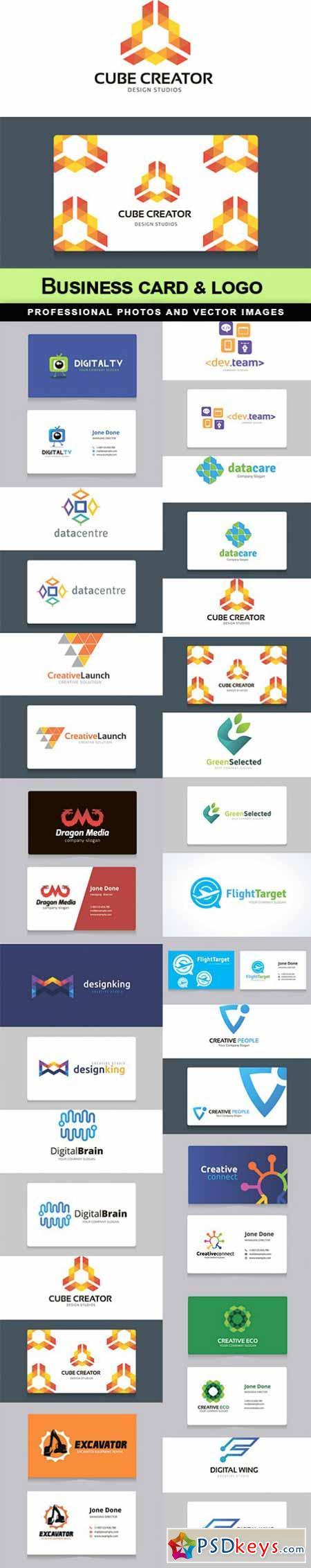 Business card & logo - 17 EPS