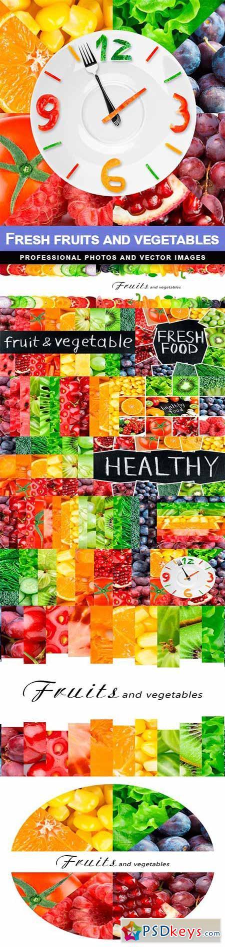 Fresh fruits and vegetables - 14 UHQ JPEG