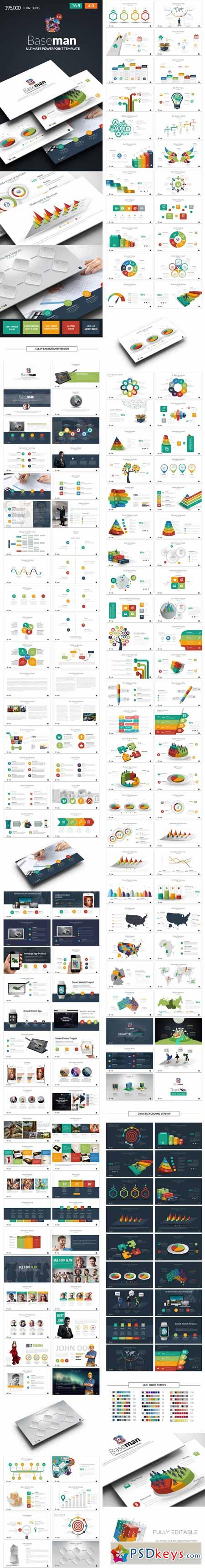Baseman- Ultimate PowerPoint Template 12898624