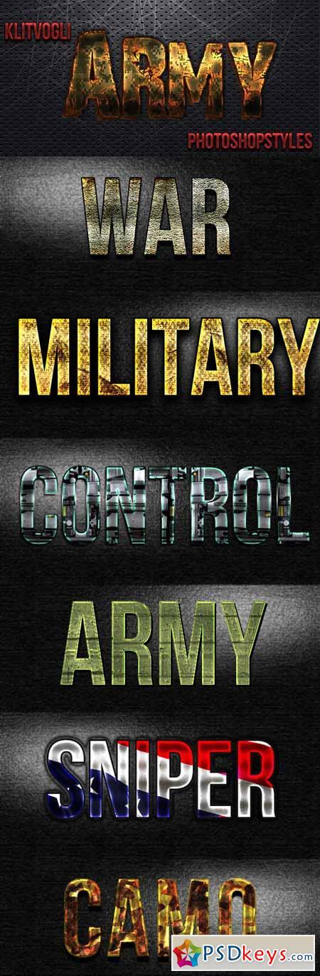 Army Photoshop Styles 12850605