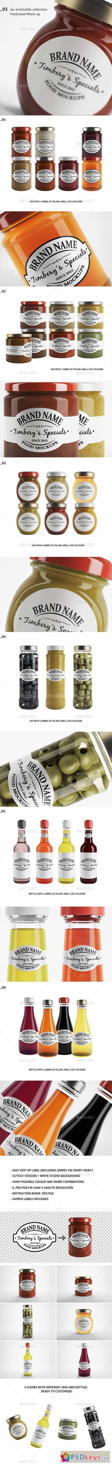 Jar & Bottle - Label Logo Mockup 12899615