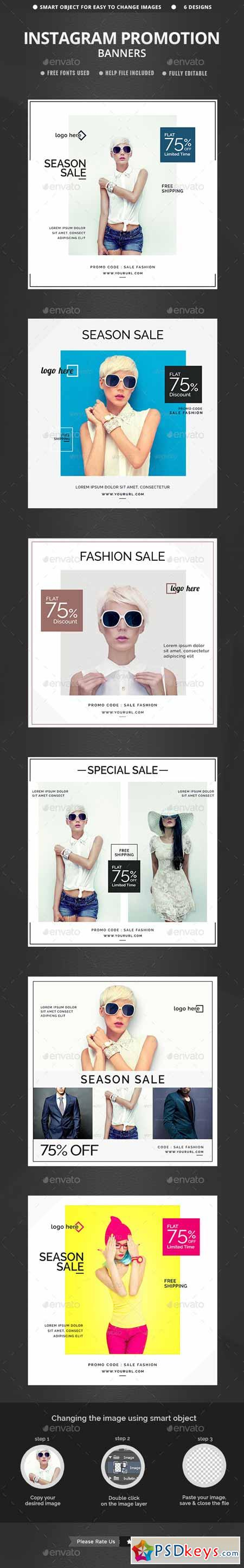 Sales Instagram Banners - 6 Templates 12901326