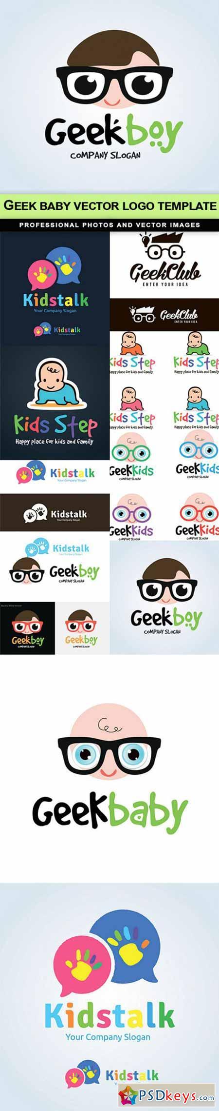 Geek baby vector logo template - 10 EPS