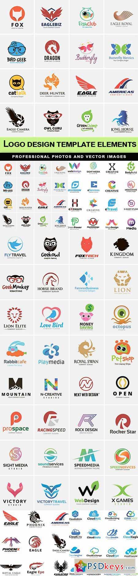 Logo design template elements - 6 EPS