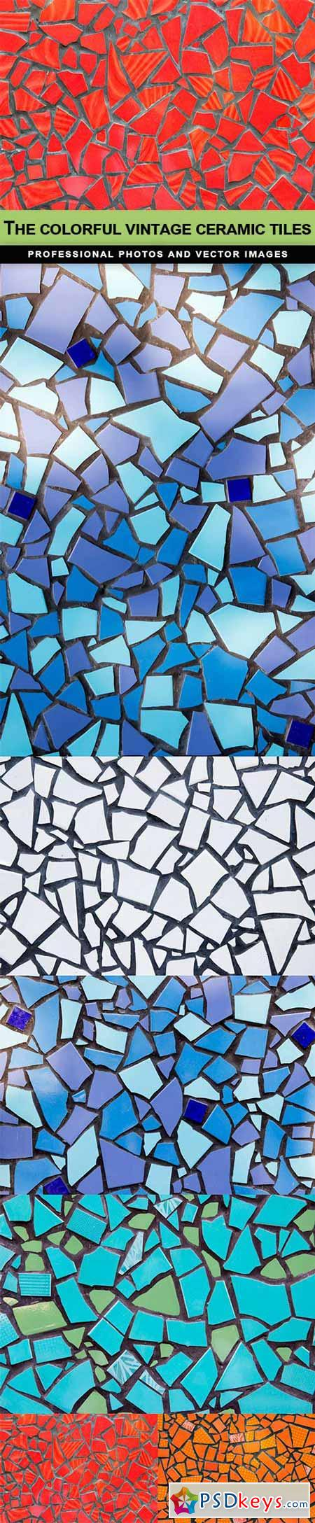 The colorful vintage ceramic tiles - 6 UHQ JPEG