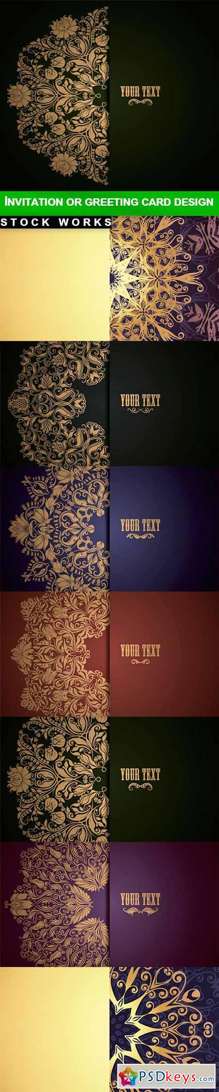 Invitation or greeting card design - 14 EPS