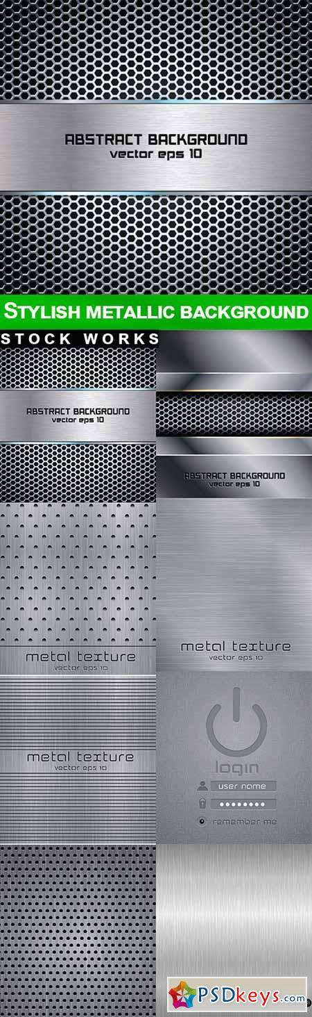 Stylish metallic background - 8 EPS