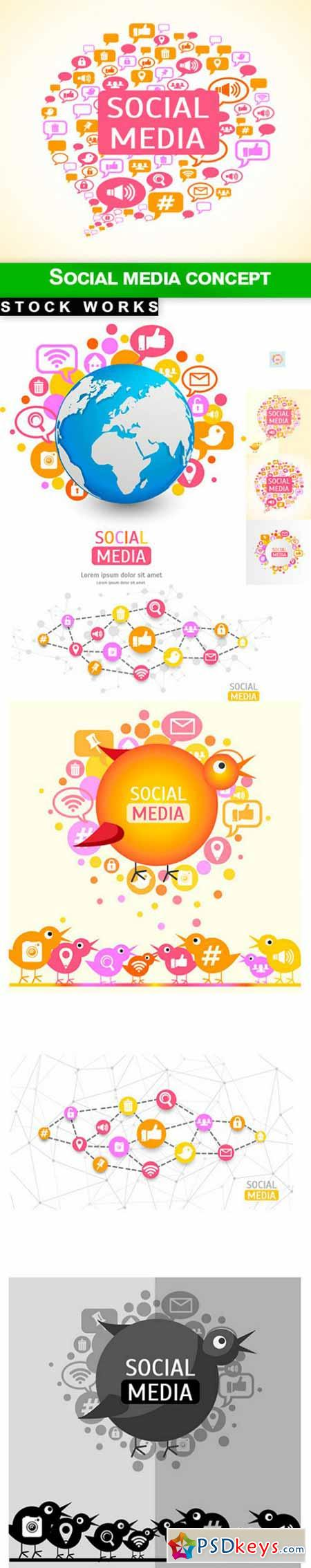 Social media concept - 9 EPS