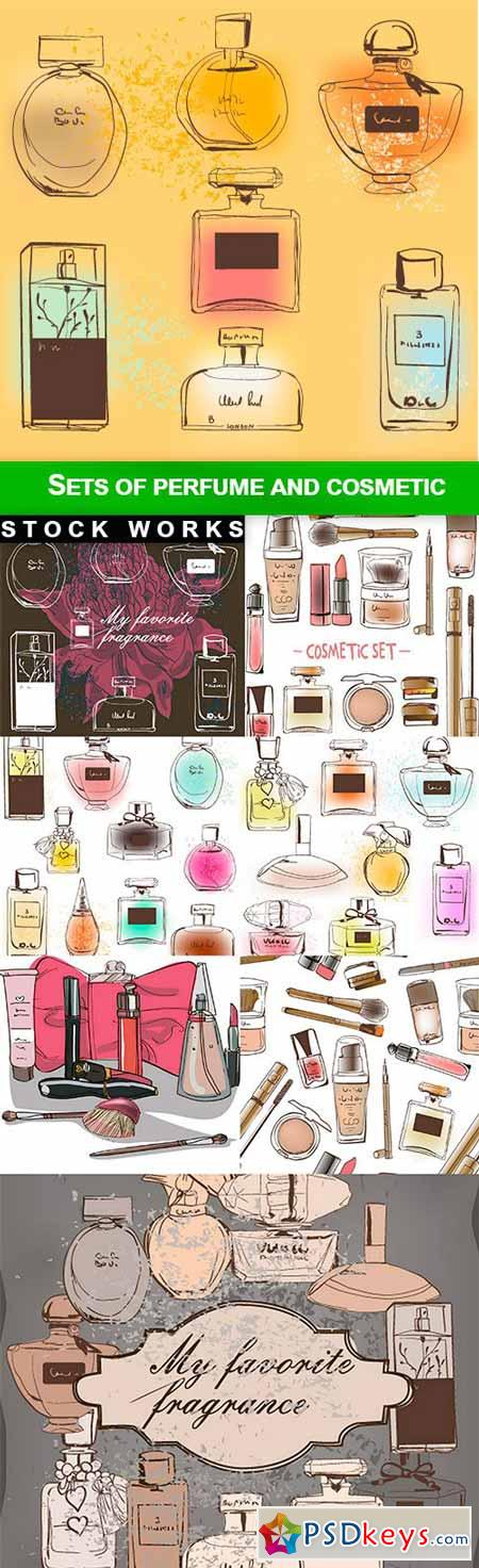 Sets of perfume and cosmetic - 8 EPS