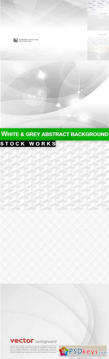 White & grey abstract background - 10 EPS