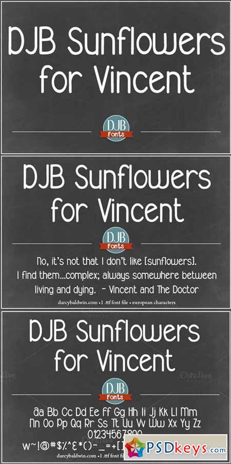 DJB Sunflowers for Vincent Font 374699
