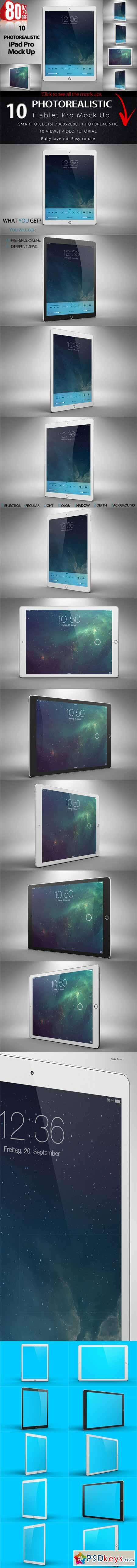 BUNDLE New iPad Pro Mock Up 374764