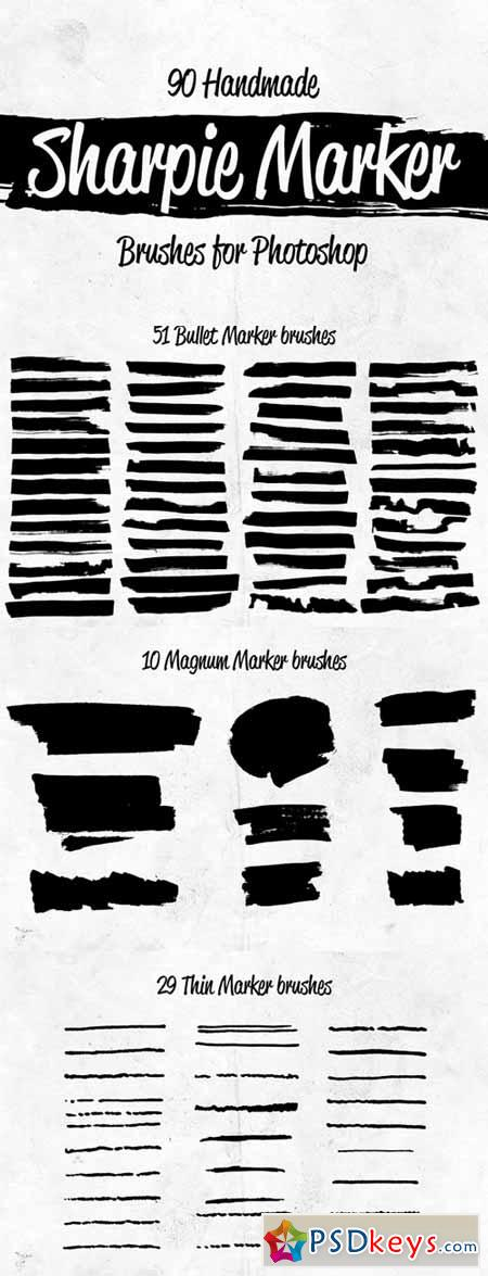 90 Sharpie Marker Brushes for PS 375758