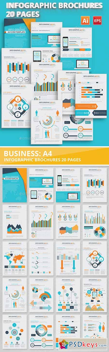 20 Pages Info Graphic Elements Design 12667152