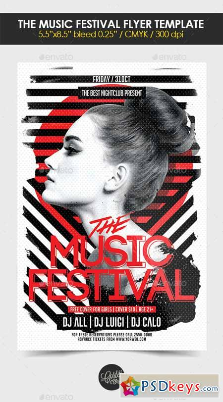 The Music Festival Flyer Template 12572946