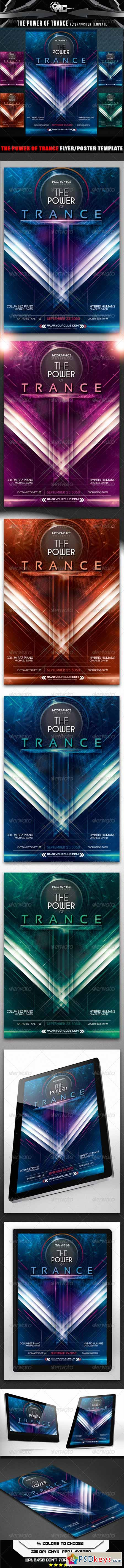 The Power of Trance Flyer Poster Template 8545090