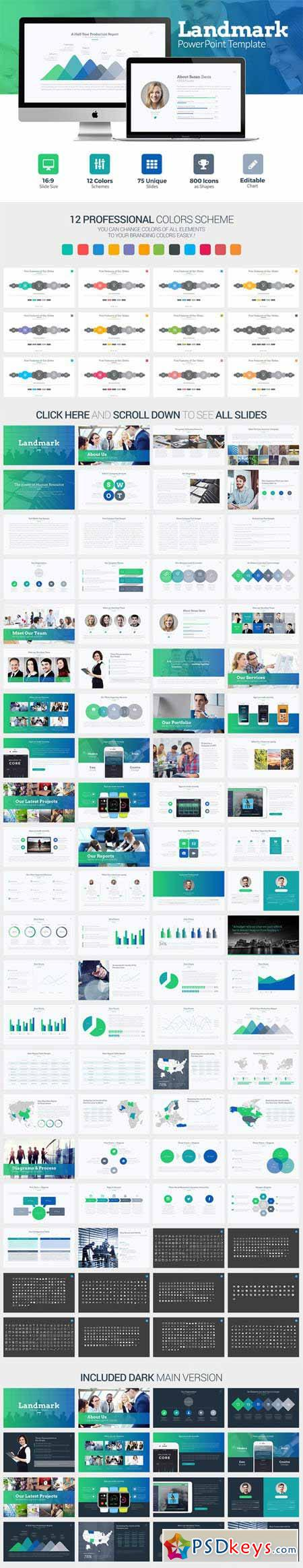 Landmark Powerpoint Template 369142 Free Download Photoshop Vector