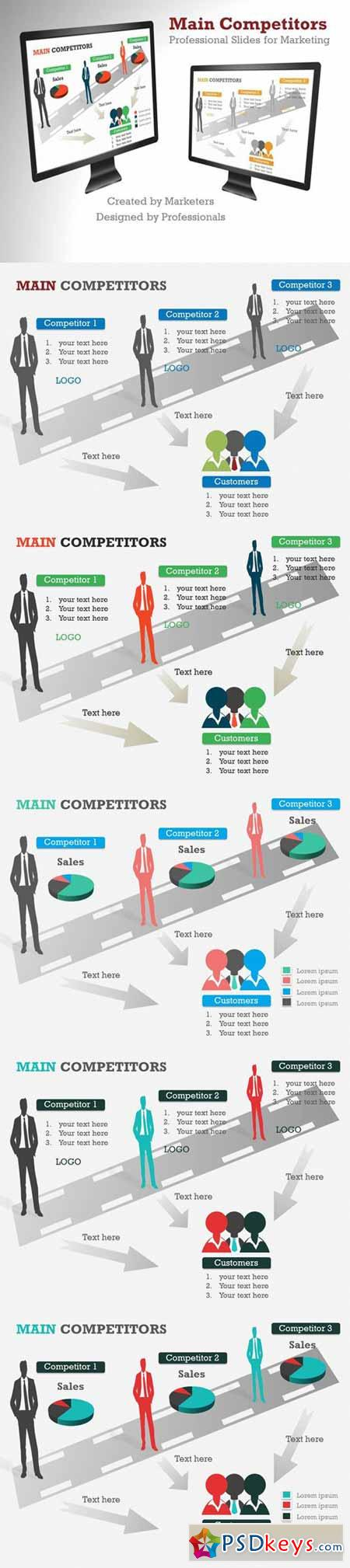 Main Competitors PowerPoint Template 372548