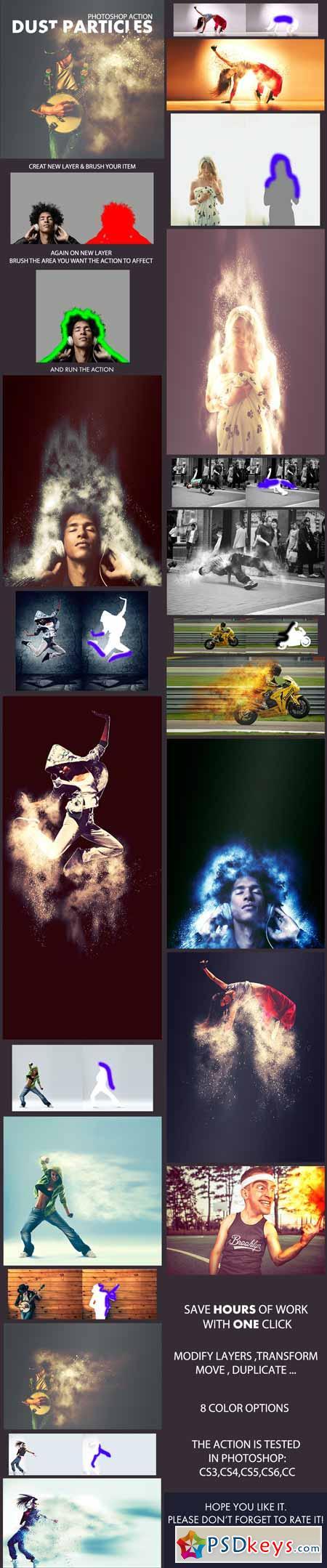 Dust Particles Photoshop Action 12941799