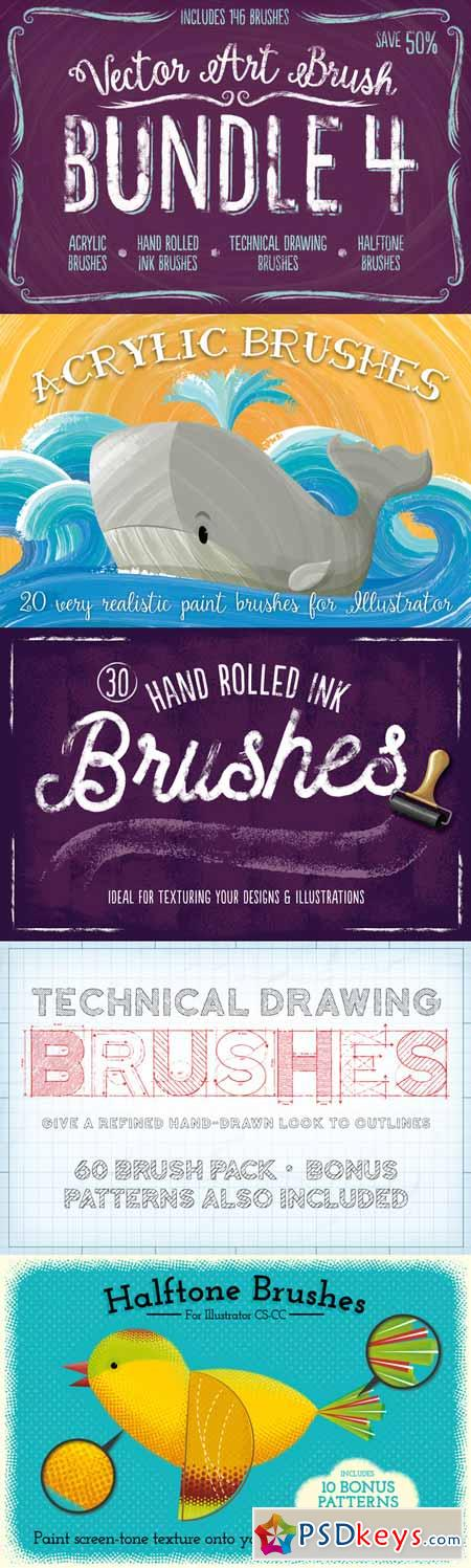Vector Art Brush Bundle 4 291886