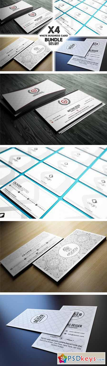 White Business Card Bundle 224515