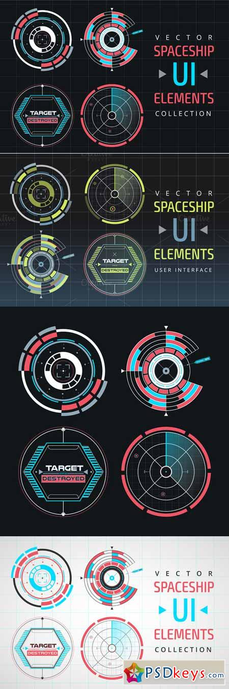 UI HUD infographic interface element 374922