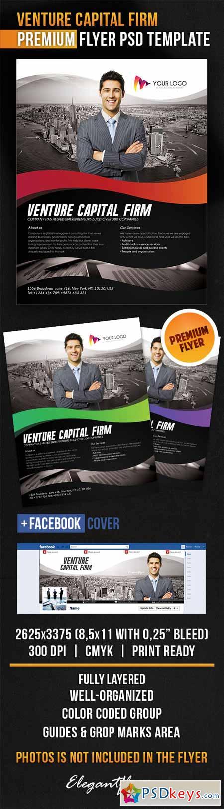 Venture Capital Firm – Flyer PSD Template + Facebook Cover