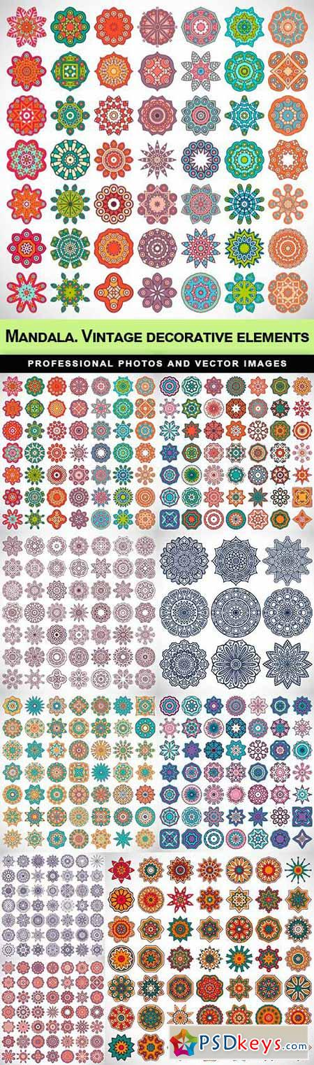 Mandalas. Vintage decorative elements - 9 EPS