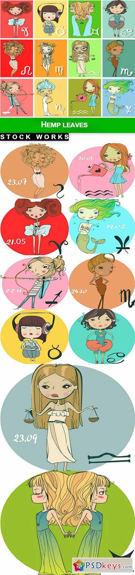 Horoscope girls - 11 EPS