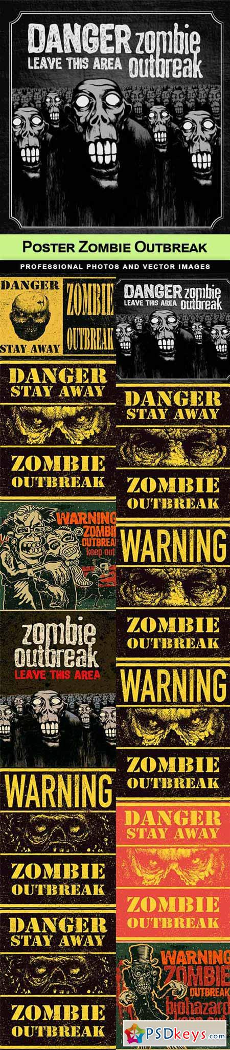 Poster Zombie Outbreak - 12 EPS
