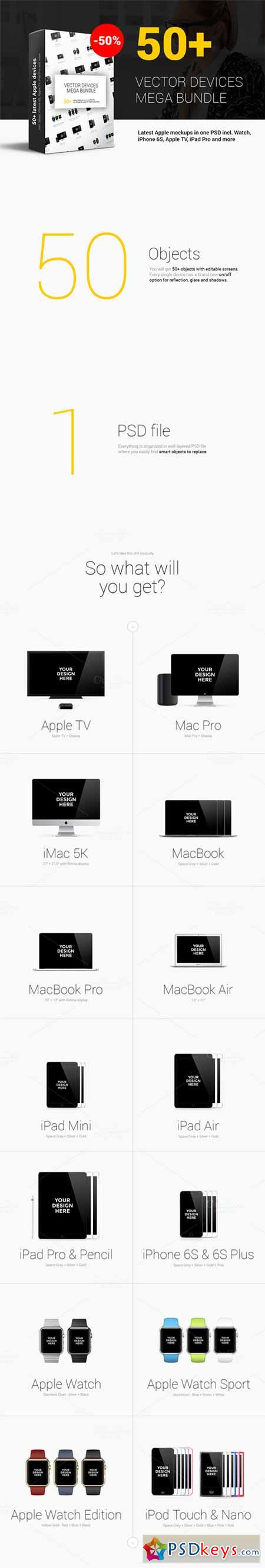 50+ Apple Mockups Mega Bundle 375868