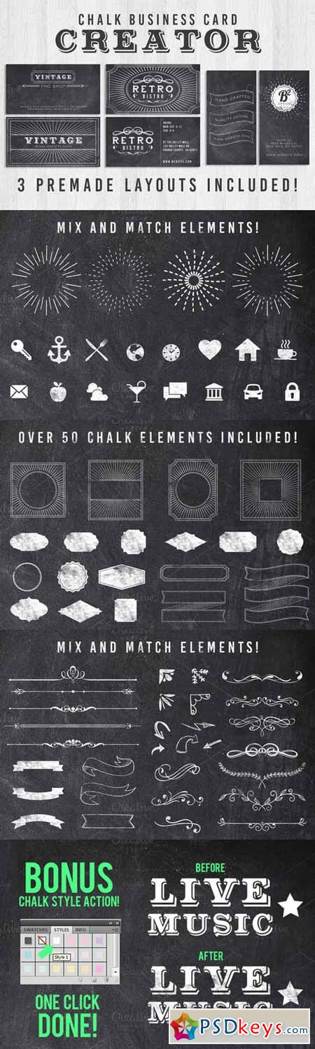 Chalk Business Card Creator 368969