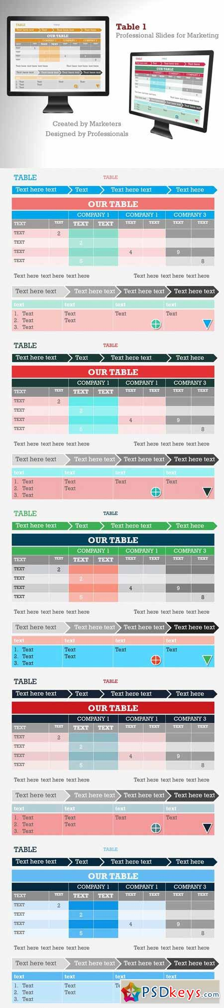 Table 1 PowerPoint Template 372638