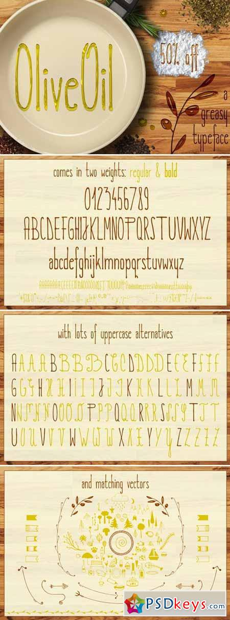 Olive Oil Typeface 378126
