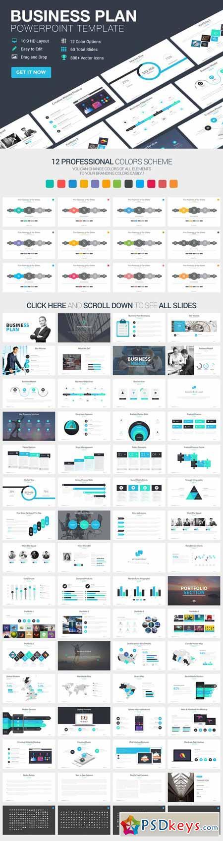 Business Plan Powerpoint Template 375476
