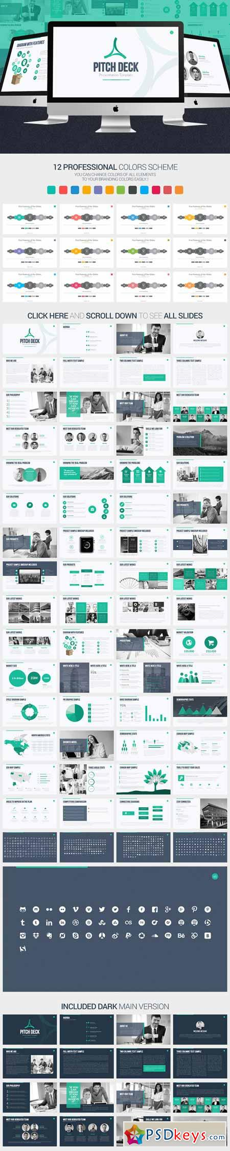 Pitch Deck PowerPoint Template 375469