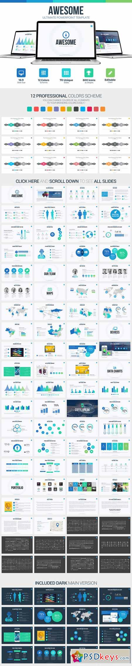 awesome powerpoint template 365445 187 free download