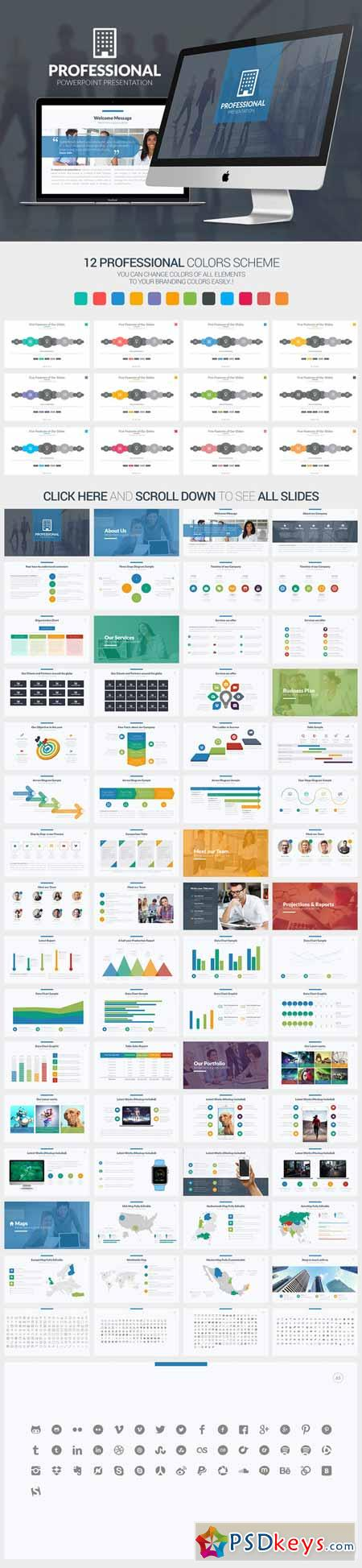 Professional Powerpoint Template 375919