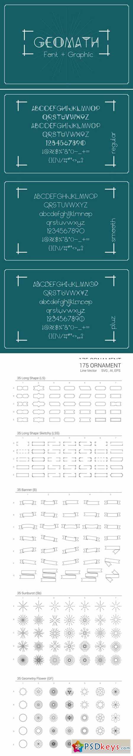 GeoMath - Font & Graphic 380503